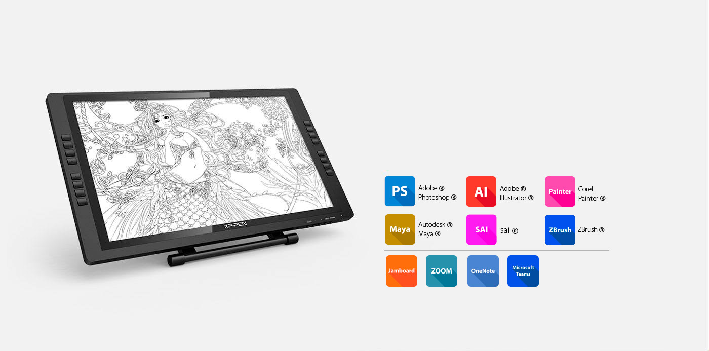 Artist 22E Pro pen tablet monitor Versatility and Compatibility
