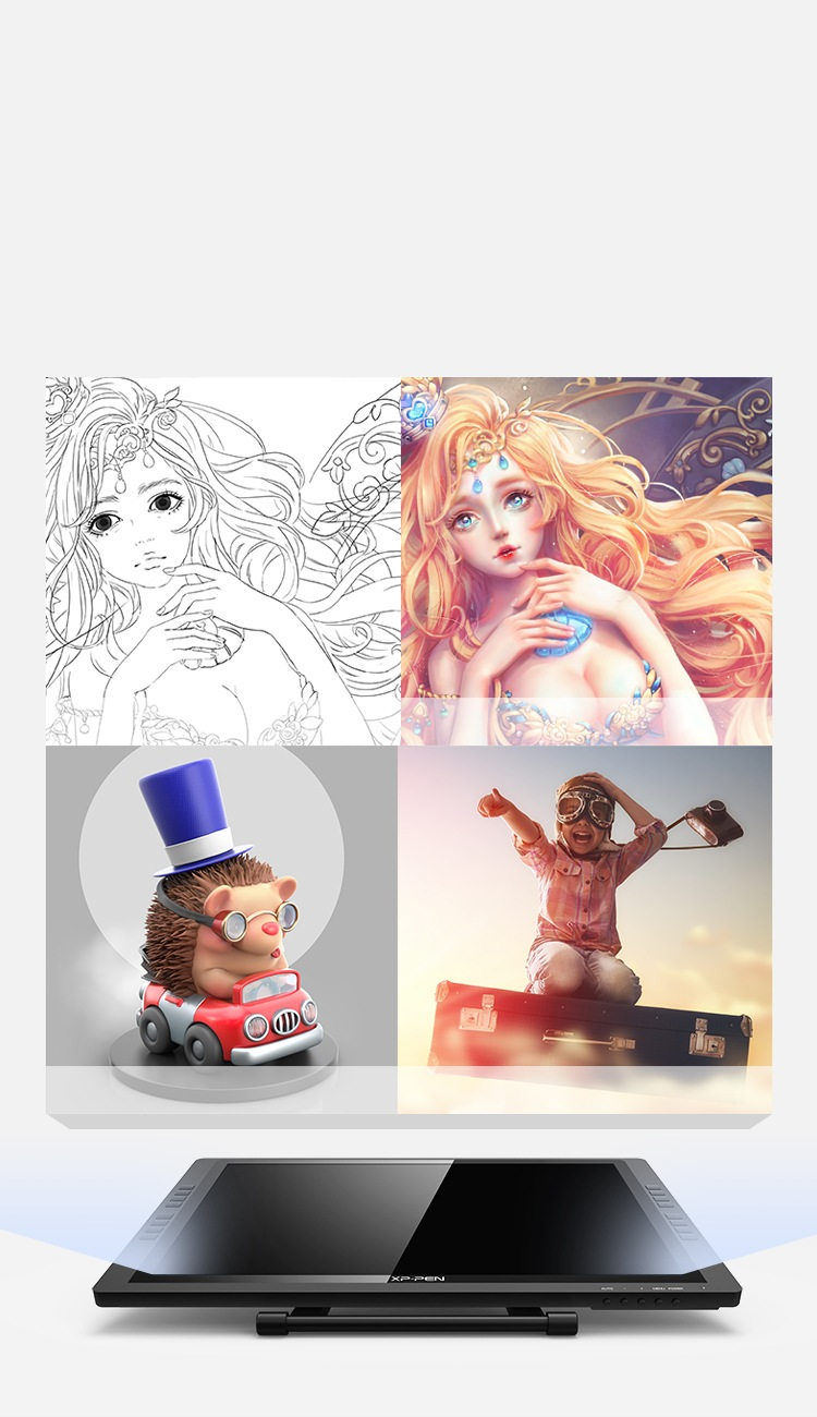 Draw, sketch, paint, and design on Artist 22E Pro pen monitor