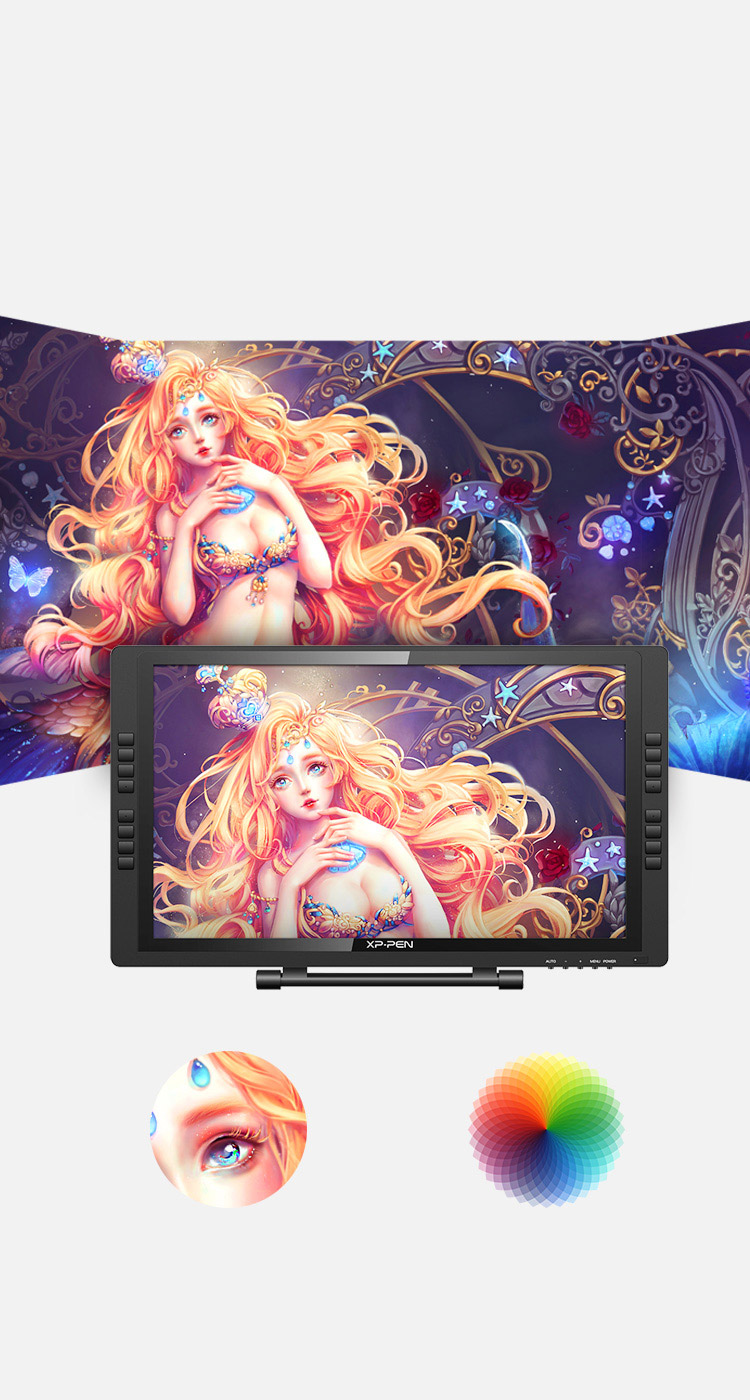Artist 22E Pro Drawing Tablet features of 1080p resolution HD IPS Display