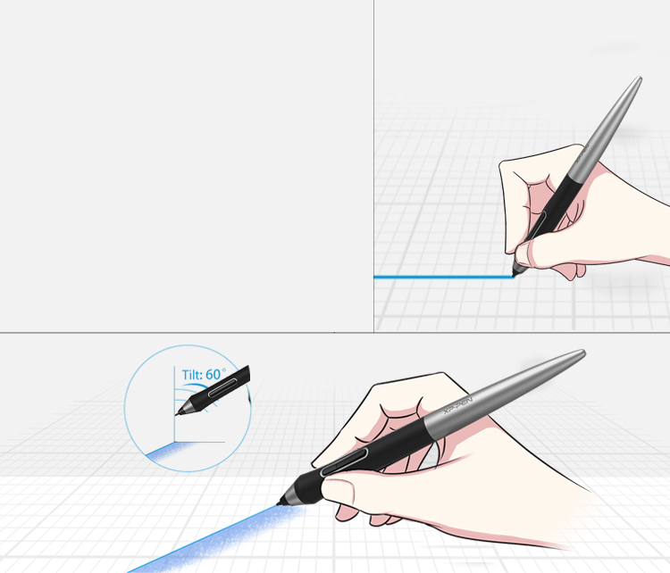XP-Pen Deco Pro Art Tablet Support Natural Tilt recognition