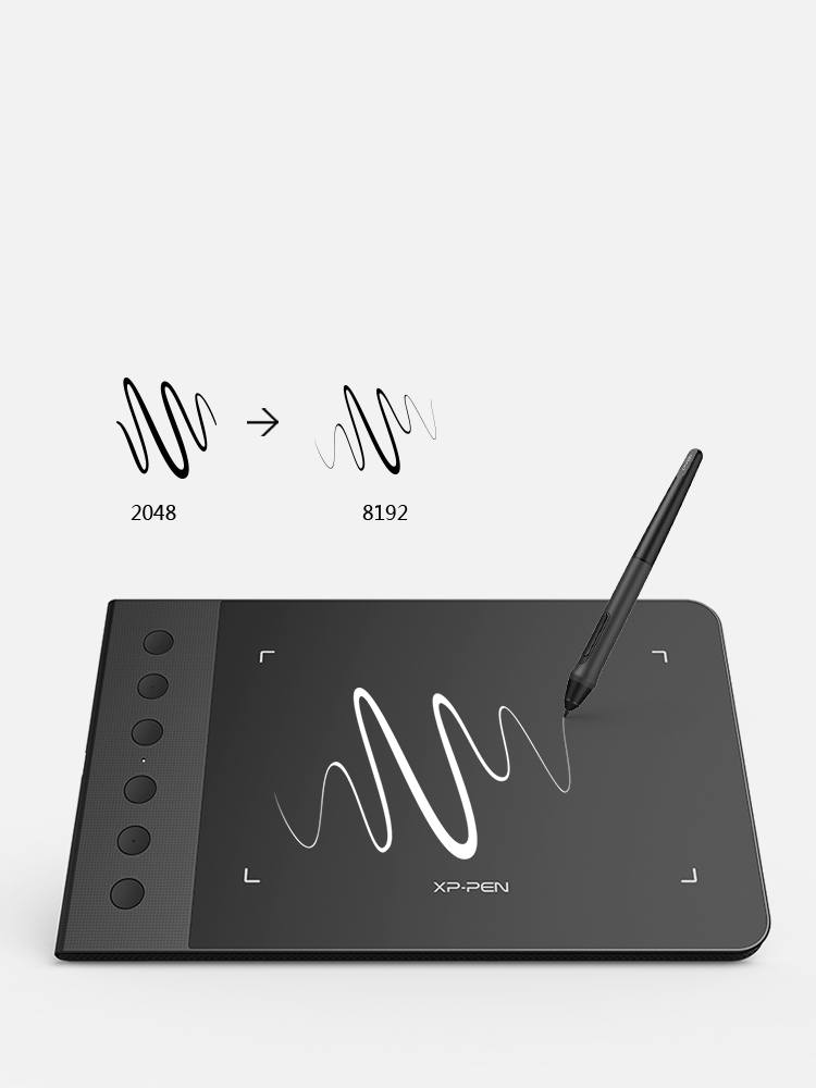XP-Pen Star G640S digital art tablet features of Increased pressure sensitivity